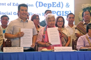 PGIS, DepEd marks MOA for Palarong Pambansa 2018