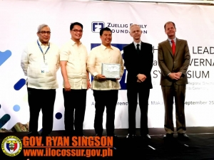 Gov. Singson another step up with his credentials